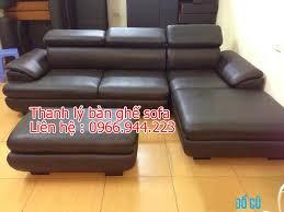 Bộ sofa góc bọc da mới 100%1