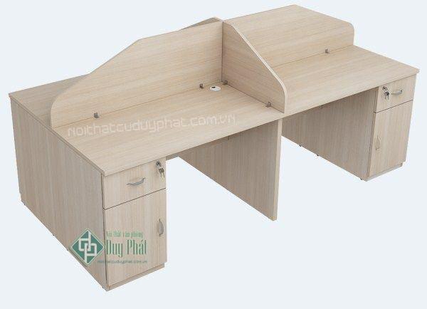 Thanh lý bàn modun 4 chỗ ngồi của nhân viên mới 100% - thiết kế nhỏ gọn đẹp mắt1
