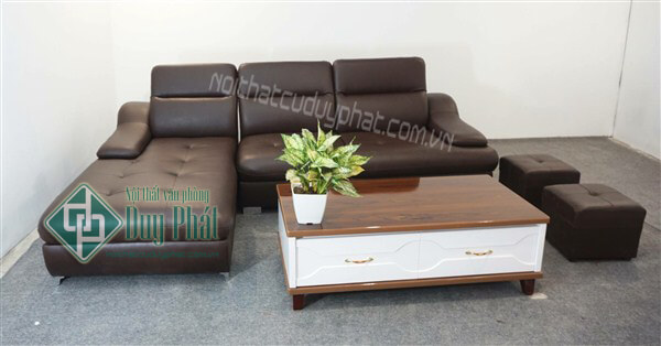 Thanh lý bộ sofa góc bọc da hàn quốc mới 100%