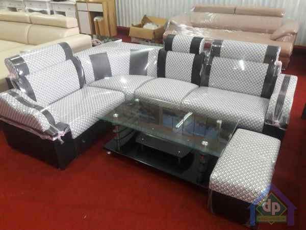 Thanh lý bộ sofa góc kẻ caro mới 100% giá thanh lý 2400k