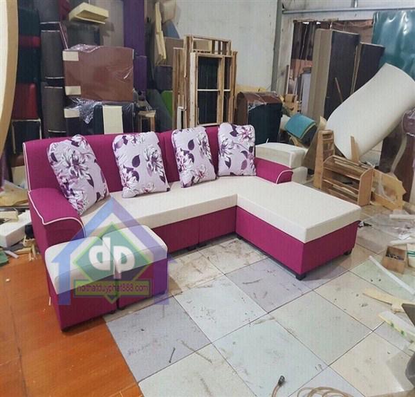 Thanh lý ghế sofa góc màu tím mới 100%