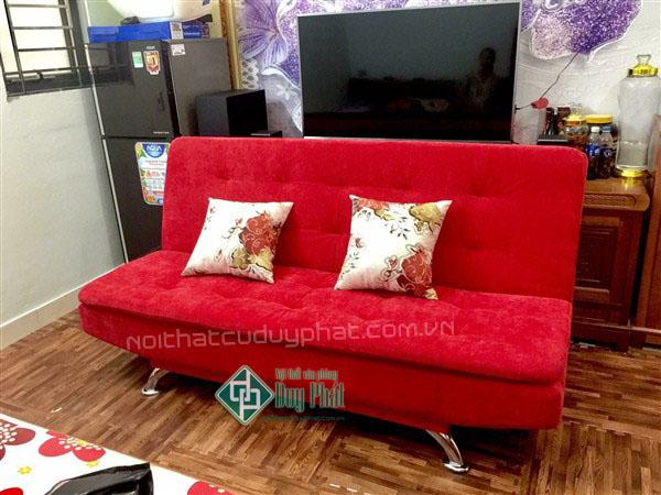 Thanh lý sofa giường màu đỏ mới 100%1