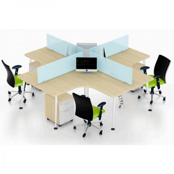 Những mẫu bàn làm việc văn phòng có vách ngăn hiện đại nhất hiện nay