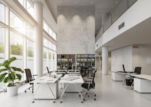 Xu hướng nội thất văn phòng mở hiện đại