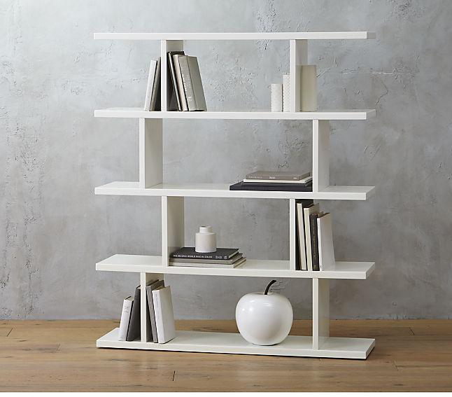 Kệ gỗ màu trắng đơn giản