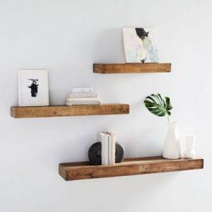 Kệ gỗ treo tường thanh ngang đơn giản